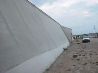Las paredes modifican el clima dentro de los invernaderos