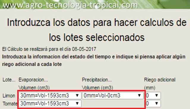 Introducir medición tina en software Agro-tecnologia-tropical